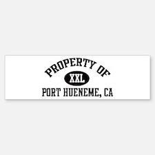 Property of PORT HUENEME Bumper Bumper Bumper Sticker