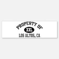 Property of LOS ALTOS Bumper Bumper Bumper Sticker