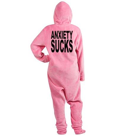 anxietysucks.png Footed Pajamas