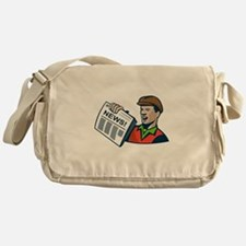 Newsboy Newspaper Delivery Retro Messenger Bag
