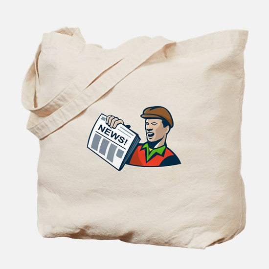 Newsboy Newspaper Delivery Retro Tote Bag