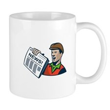 Newsboy Newspaper Delivery Retro Mug