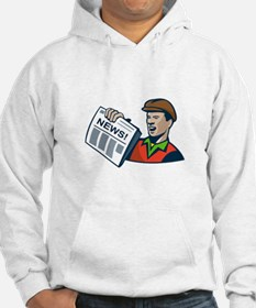 Newsboy Newspaper Delivery Retro Hoodie