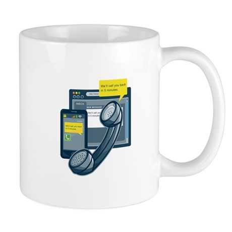 Telephone Smartphone Website Call Back Mug