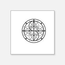 "Cool Logo Square Sticker 3"" x 3"""