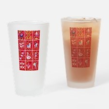 Twelve days of Christmas Drinking Glass