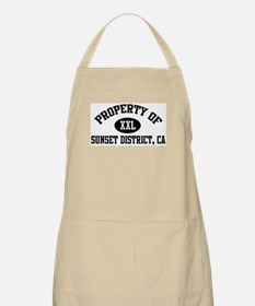 Property of SUNSET DISTRICT BBQ Apron