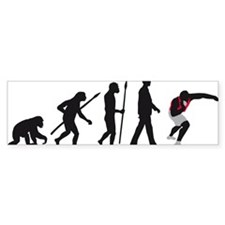evolution shot putting Bumper Sticker