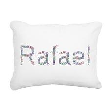 Rafael Paper Clips Rectangular Canvas Pillow