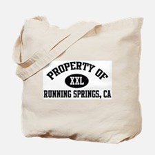 Property of RUNNING SPRINGS Tote Bag