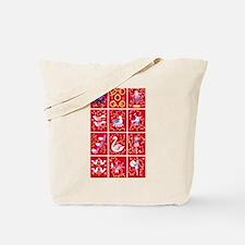 Twelve days of Christmas Tote Bag