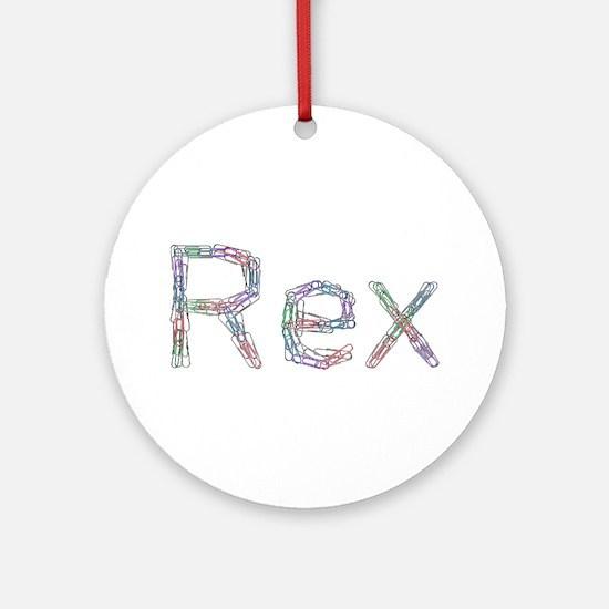 Rex Paper Clips Round Ornament