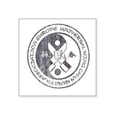 "Wing Chun Logo Square Sticker 3"" x 3"""