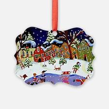Folk Art Holiday Ornament