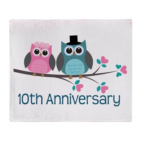 10th Anniversary Party Gift Throw Blanket