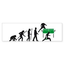 evolution table tennis player Bumper Sticker