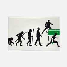 evolution table tennis player Rectangle Magnet