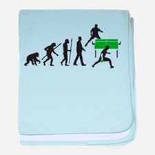 evolution table tennis player baby blanket