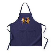 Gingerbread Man Couple Apron (dark)
