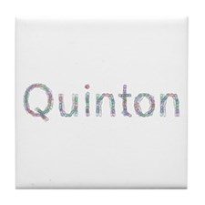 Quinton Paper Clips Tile Coaster