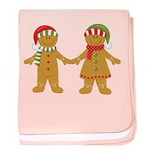 Gingerbread Man Couple baby blanket