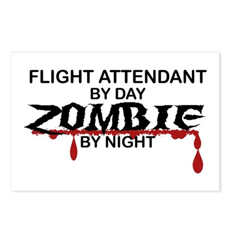Flight Attendant Zombie Postcards (Package of 8)