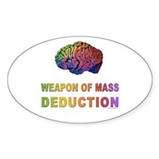 Brain WMD Oval Decal