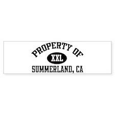 Property of SUMMERLAND Bumper Bumper Sticker