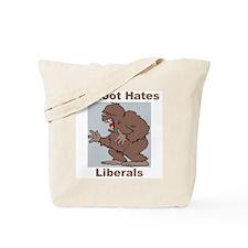 Bigfoot Hates Liberals Tote Bag