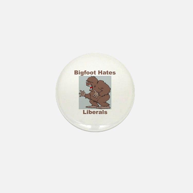 Bigfoot Hates Liberals Mini Button