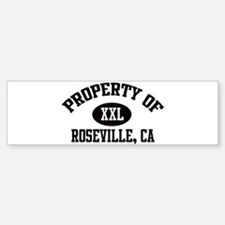 Property of ROSEVILLE Bumper Bumper Bumper Sticker