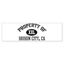 Property of SUISUN CITY Bumper Bumper Sticker