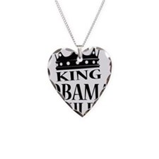 King Obama Rules Necklace Heart Charm