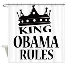 King Obama Rules Shower Curtain