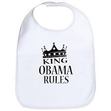 King Obama Rules Bib