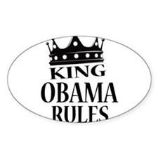 King Obama Rules Bumper Stickers