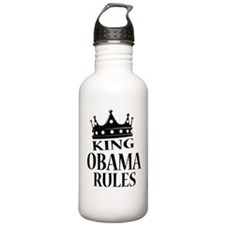King Obama Rules Sports Water Bottle