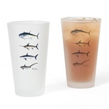 NE Coastal Fish Drinking Glass