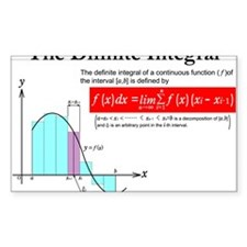 The Difinite Integral Decal