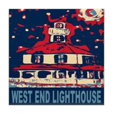 New Orleans Lighthouse Tile Coaster
