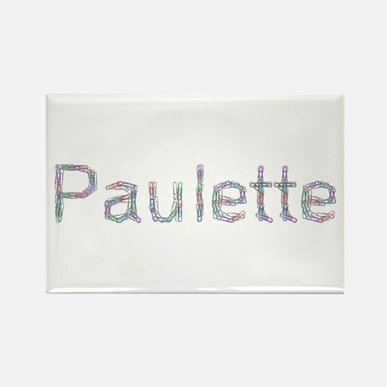 Paulette Paper Clips Rectangle Magnet