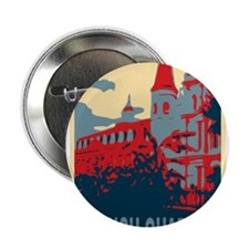 """French Quarter in Red and Blue 2.25"""" Button"""