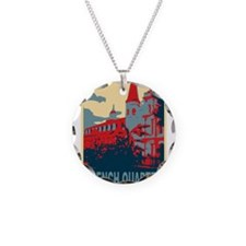 French Quarter in Red and Blue Necklace