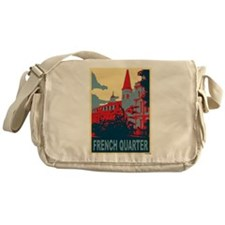 French Quarter in Red and Blue Messenger Bag