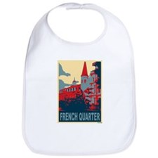 French Quarter in Red and Blue Bib