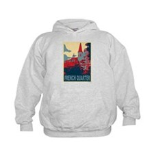 French Quarter in Red and Blue Hoodie