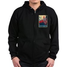 French Quarter in Red and Blue Zip Hoodie
