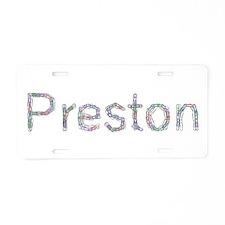 Preston Paper Clips Aluminum License Plate
