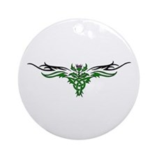 Tribal Thistle Ornament (Round)
