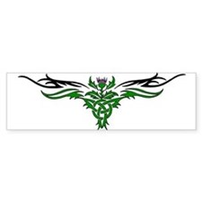 Tribal Thistle Bumper Bumper Sticker